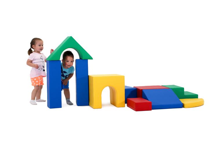 Montessori färgglada klossar